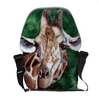 Giraffe I'm Up Here Messenger Bag