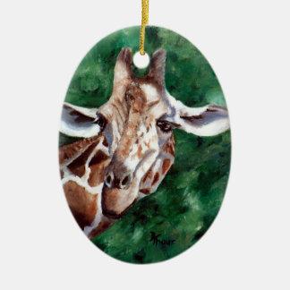 Giraffe I'm Up Here Ornament