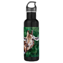 Giraffe I'm Up Here Water Bottle