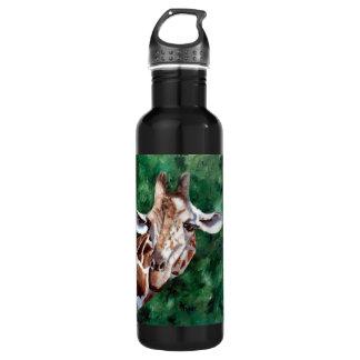Giraffe I'm Up Here Water Bottle