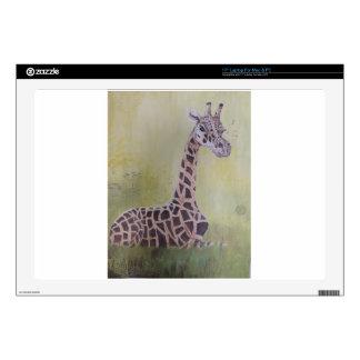 Giraffe in Africa Decals For Laptops