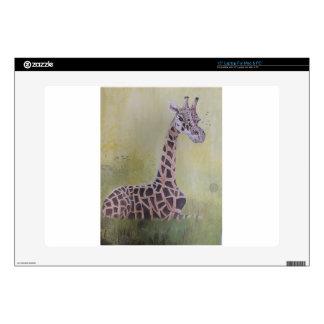 Giraffe in Africa Laptop Skins