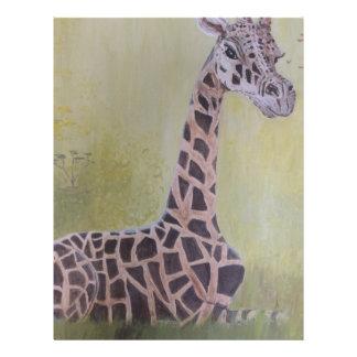 Giraffe in Africa Letterhead