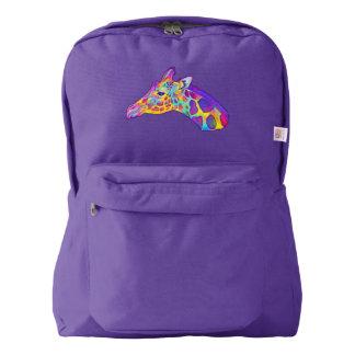 Giraffe in Colors American Apparel™ Backpack
