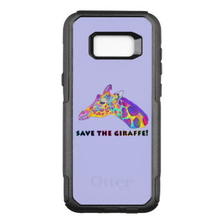 Giraffe in Colors OtterBox Commuter Samsung Galaxy S8+ Case