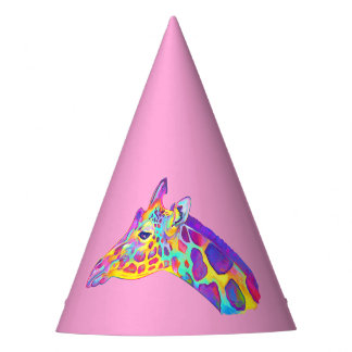 Giraffe in Colors Party Hat
