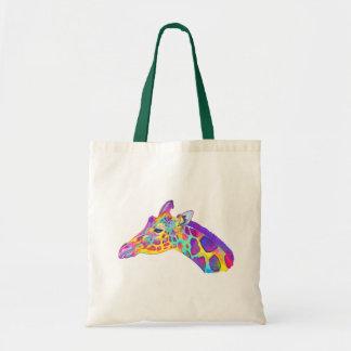 Giraffe in Colors Tote Bag