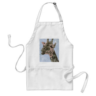 Giraffe in old picture adult apron