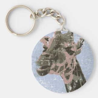 Giraffe in old picture keychain