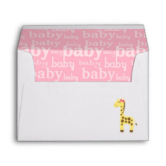 giraffe baby shower printed mailing envelopes zazzle