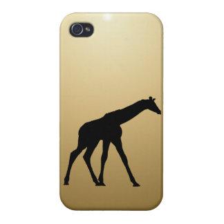 GIRAFFE IN SILHOUETTE iPhone 4 CASES