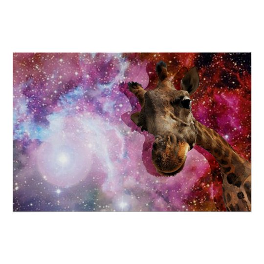 Giraffe...in Space?! Poster