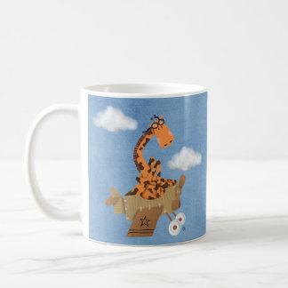 Giraffe in the clouds coffee mug