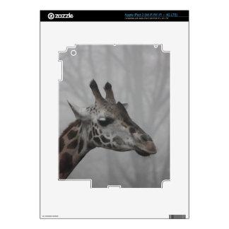 Giraffe in the Fog iPad 3 Skin