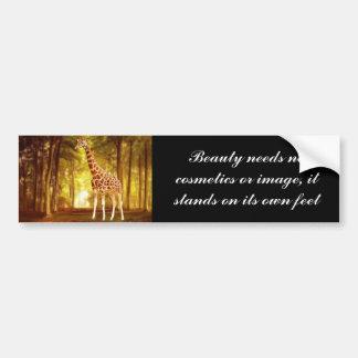 Giraffe in the forest bumper sticker