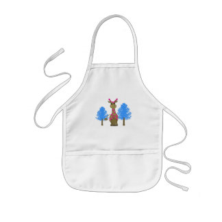 Giraffe in the Forest Kids' Apron