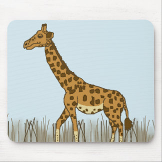 Giraffe in the Grasslands Mouse Pad