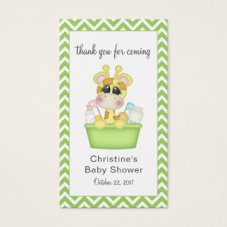 Giraffe in the Tub Baby Shower Favor Tag