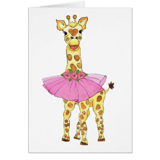 Giraffe in Tutu Card
