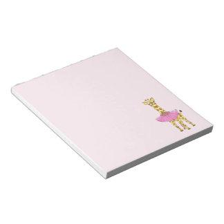 Giraffe in Tutu Notepad