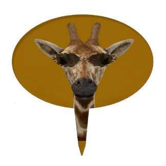 Giraffe Incognito Cake Topper