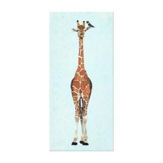 GIRAFFE & INDIGO BIRD Canvas