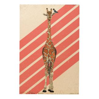 Giraffe Wood Wall Art Zazzle