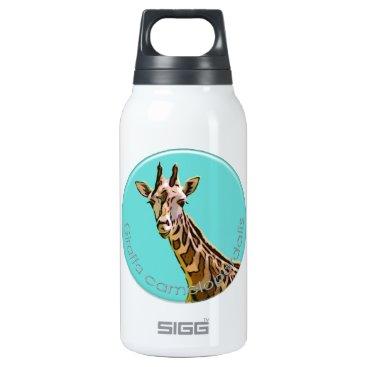 McTiffany Tiffany Aqua Giraffe Insulated Water Bottle
