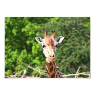 Giraffe 5x7 Paper Invitation Card