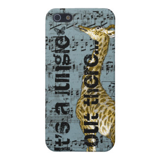 Giraffe It's A Jungle Out There iPhone 5 Case