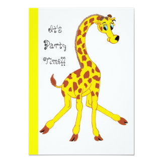 giraffe, It's PartyTime!! Card