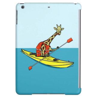 Giraffe Kayaking iPad Air Cases