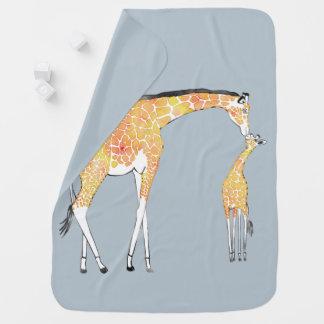 Giraffe Kiss Baby Blanket
