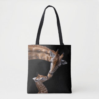 Giraffe Kisses All Over Print Bag