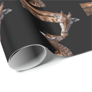 Giraffe Kisses Wrapping Paper
