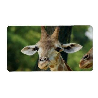 Giraffe Shipping Label