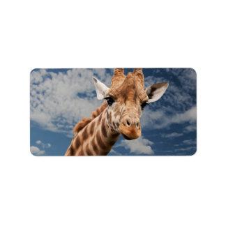 Giraffe Personalized Address Label