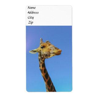 Giraffe Label