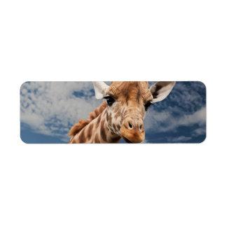 Giraffe Custom Return Address Label