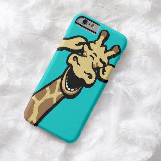 Giraffe laughing graphic aqua teal iPhone 6 case
