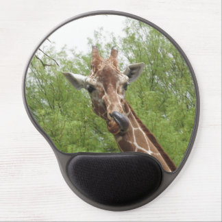 Giraffe Licking Its Nose Gel Mouse Pad