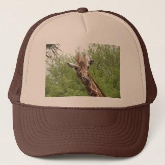 Giraffe Licking Its Nose Trucker Hat