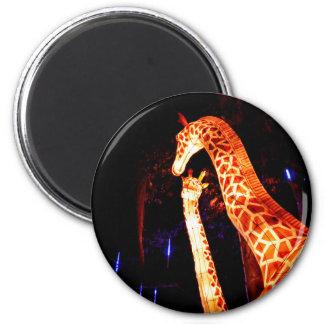 Giraffe light up night photography festival art magnet