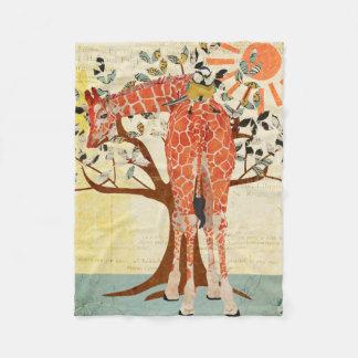 Giraffe & Little Bird Sunny Day Fleece Blanket