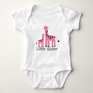 Giraffe Little Sister Baby Bodysuit