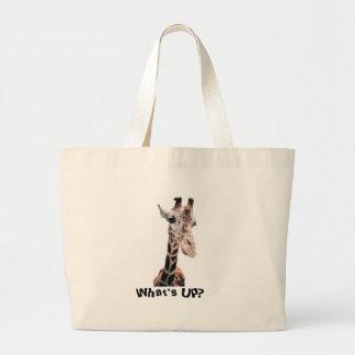 Giraffe Look Large Tote Bag
