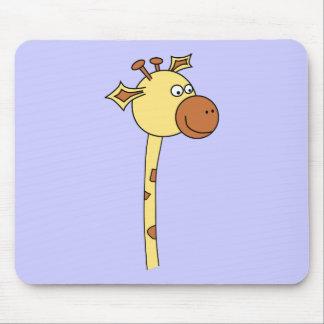 Giraffe Looking Sideways. Cartoon. Mouse Pad