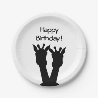 Giraffe Love Birthday Supply Paper Plate