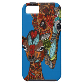 giraffe love blue iPhone SE/5/5s case