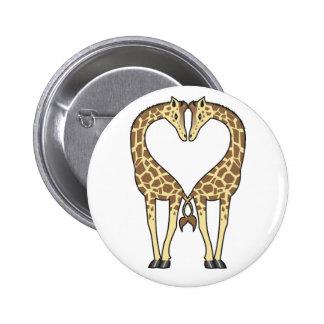 Giraffe Love Pinback Buttons